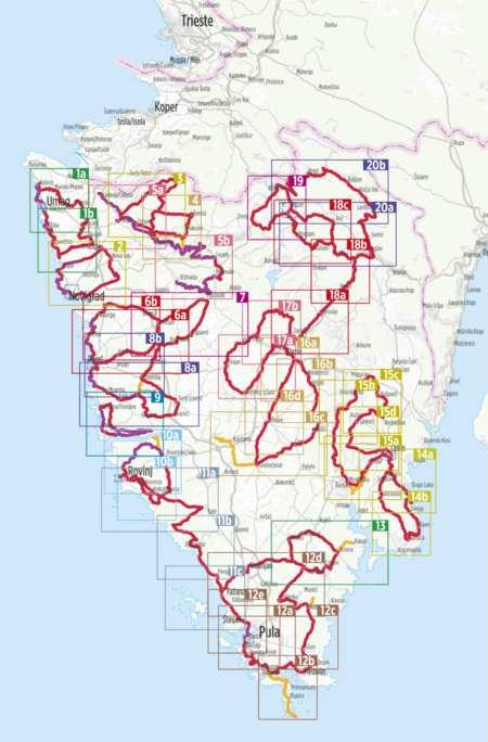 Isztria kerékpáratlasz, Radatlas Istrien