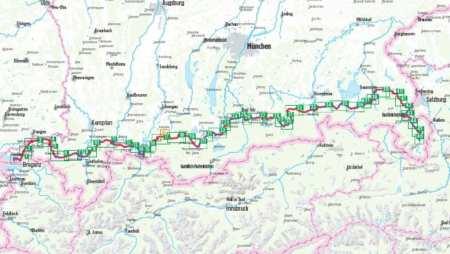 Bodensee-Königssee kerékpáratlasz, Bodensee-Königssee-Radweg