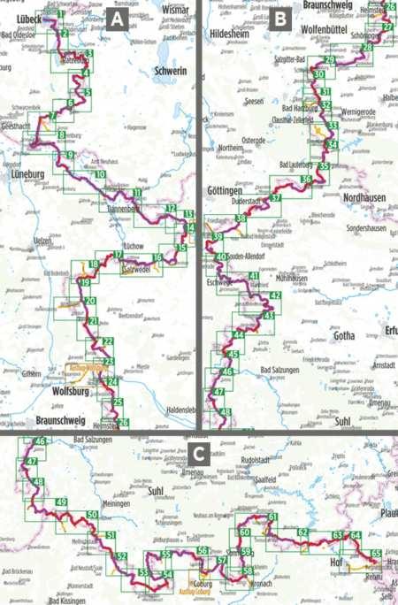 Vasfüggöny kerékpárkalauz, Europa-Radweg Eiserner Vorhang Deutsch-Deutscher Radweg