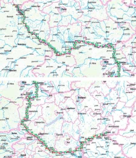 Vasfüggöny kerékpárkalauz, Hof-Szeged, Europa-Radweg, Eiserner Vorhang