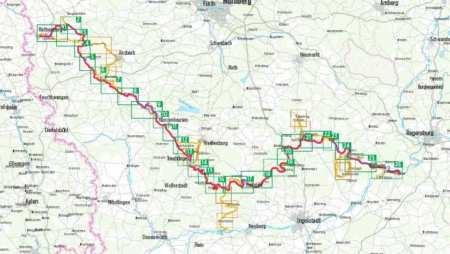 Altmühl-Radweg kerékpárkalauz