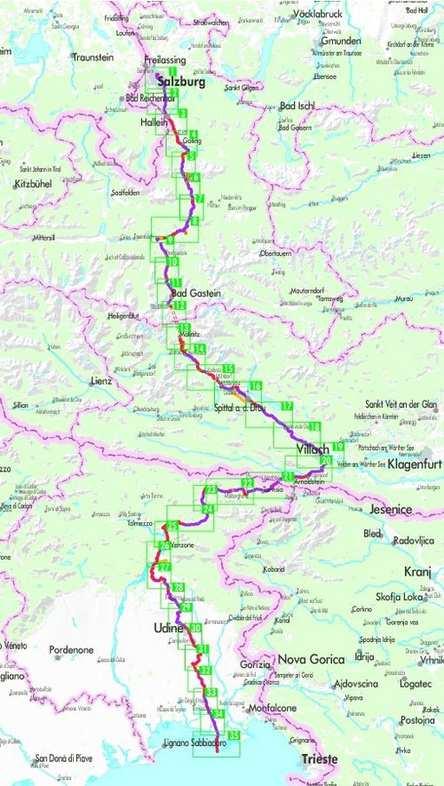 Alpok-Adria kerékpárkalauz, Alpe Adria Radweg