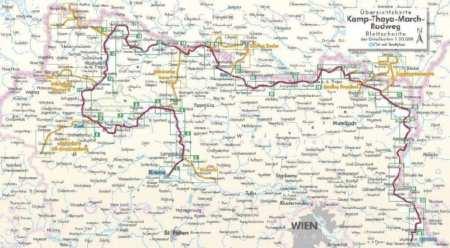 Kamp-Thaya-March-Radweg kerékpárkalauz, Kamp-Thaya-March-Radweg