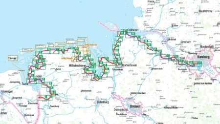 Nordseeküsten Radweg 2, Északi-tenger partjának kerékpárkalauza 2