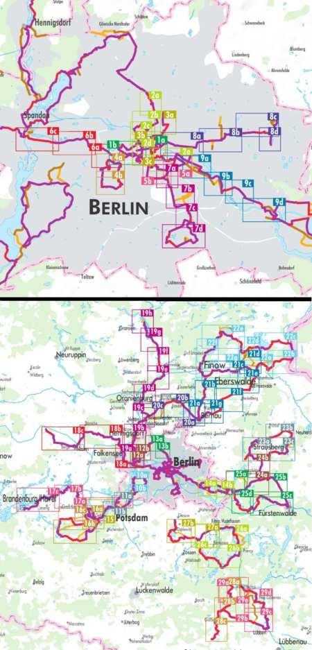 Berlin és környéke kerékpárkalauz, Rund um Berlin