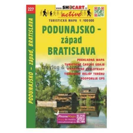 Podunajsko, západ, Bratislava, Dunamente nyugat–Pozsony turista- és kerékpáros térkép