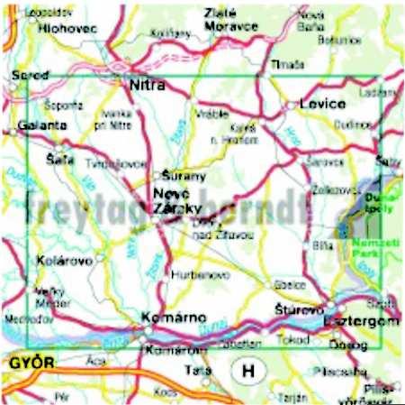 Podunajsko, východ, Burda, Dunamente kelet–Burda-hegység turista- és kerékpáros térkép
