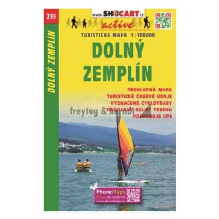 Dolný Zemplín, Alsó-Zemplén  turista- és kerékpáros térkép
