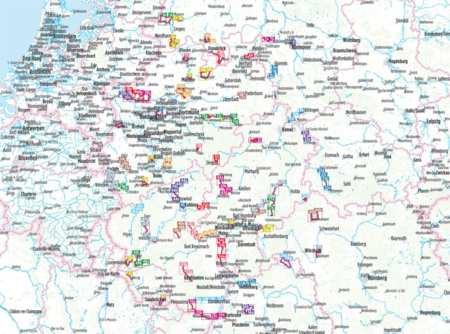 Nyugat-Németország kerékpárkalauz, Radwandern Deutschland West