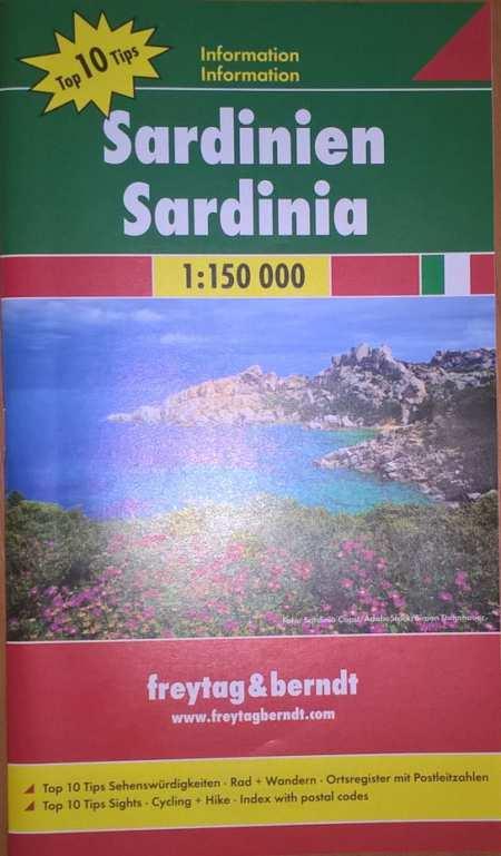 Szardínia Észak, Dél TOP10 térképszett