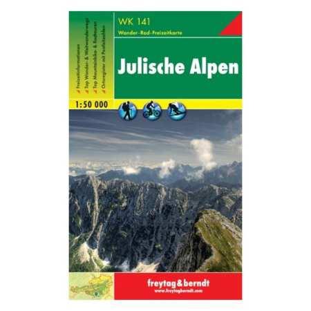 Júliai-Alpok, Julische Alpen turistatérkép