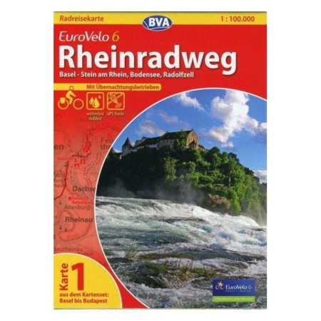 Rajna menti kerékpárút térkép, Rheinradweg Eurovelo 6