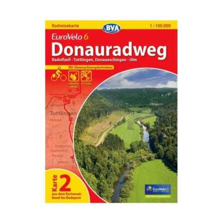 Duna menti kerékpárút térkép 2, Donauradweg 2 Eurovelo 6