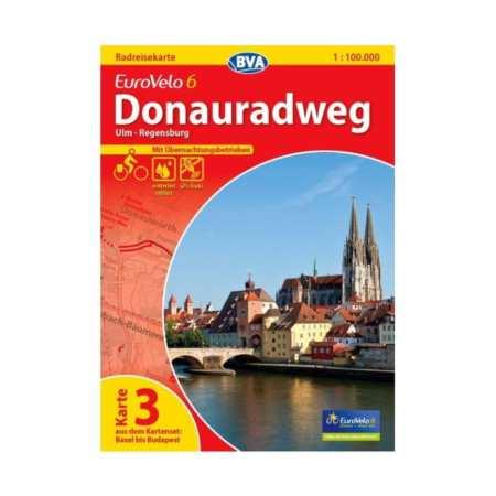 Duna menti kerékpárút térkép 3, Donauradweg 3 Eurovelo 6