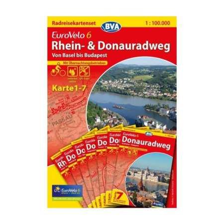 Duna menti kerékpárút térkép 4, Donauradweg 4 Eurovelo 6