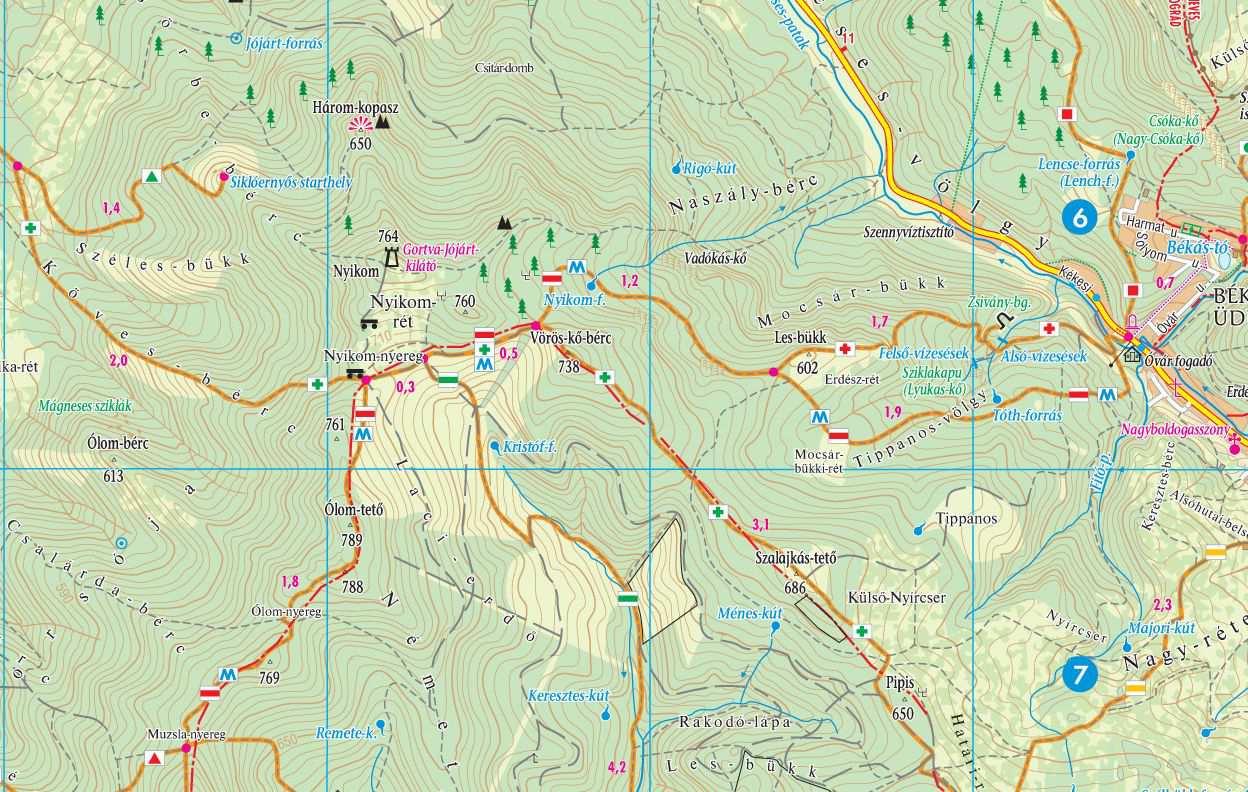 mátra kerékpáros térkép Mátra, Mátraalja turista  és kerékpáros térkép