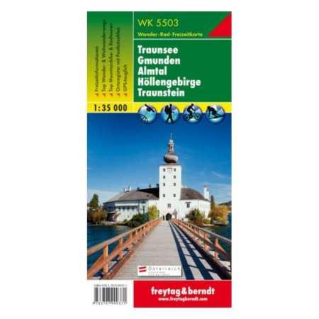 Traunsee, Gmunden, Almtal, Höllengebirge turistatérkép