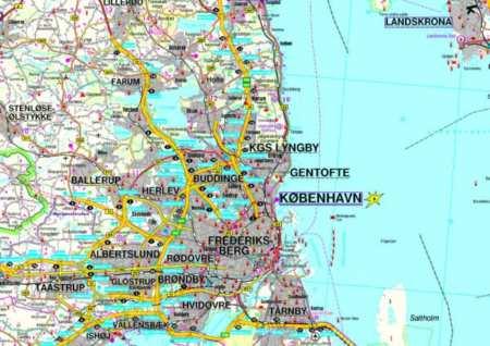 Dánia Észak, Dél térképcsomag TOP 10 Tipp