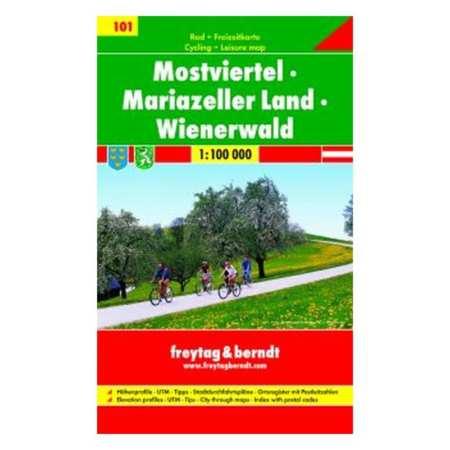 Mostviertel, Mariazeller Land, Bécsi-erdő kerékpártérkép