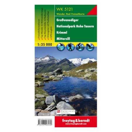 Großvenediger, Nationalpark Hohe Tauern, Krimml, Mittersill turistatérkép