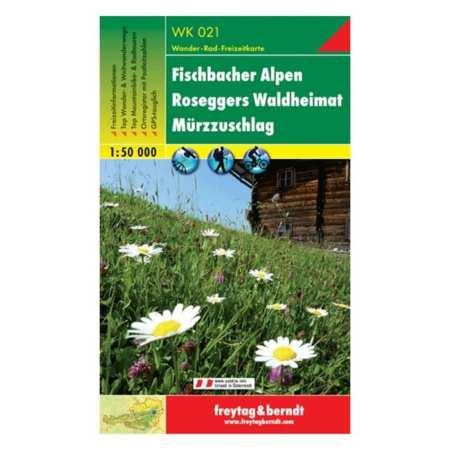 Fischbacher Alpen, Roseggers Waldheimat, Mürzzuschlag turistatérkép