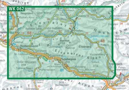 Gesäuse, Ennstaler Alpen, Schoberspass turistatérkép