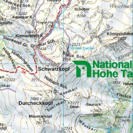 Großglockner, Sonnblick, Kaprun, Zell am See turistatérkép