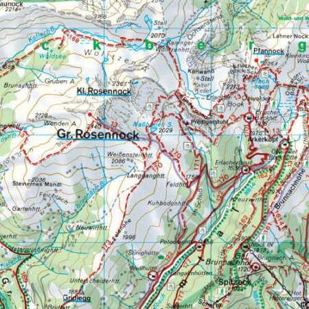 Bad Kleinkirchheim, Krems in Kärnten, Radenthein, Reichenau turistatérkép