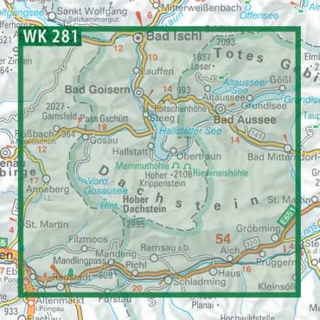Dachstein, Ausseer Land, Filzmoos, Ramsau turistatérkép