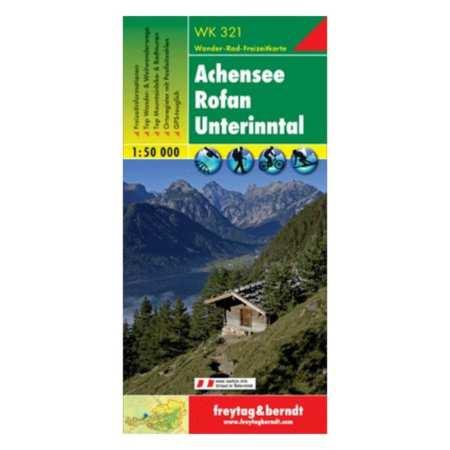 Achensee, Rofan, Unterinntal turistatérkép