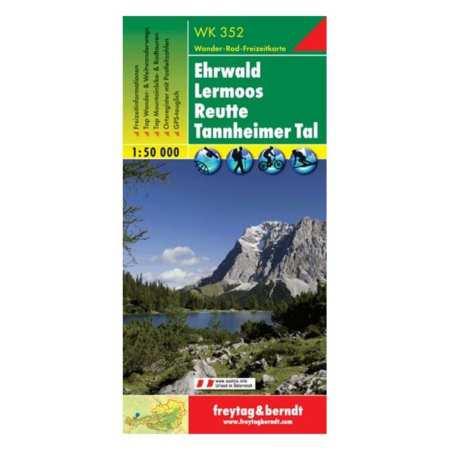 Ehrwald, Lermoos, Reutte, Tannheimer Tal turistatérkép