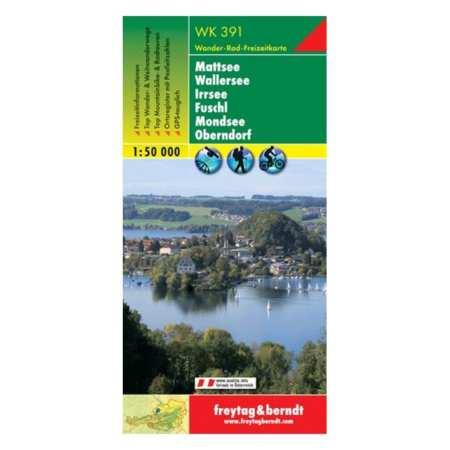 Mattsee, Wallersee, Irrsee, Fuschl, Mondsee turistatérkép