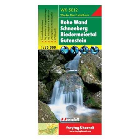 Hohe Wand, Schneeberg, Gutenstein turistatérkép