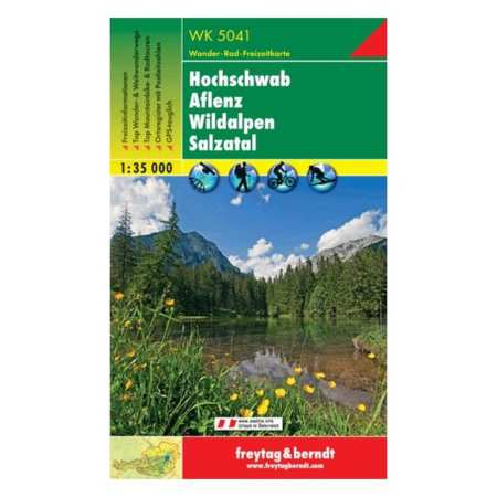 Hochschwab, Aflenz, Wildalpen, Salzatal turistatérkép