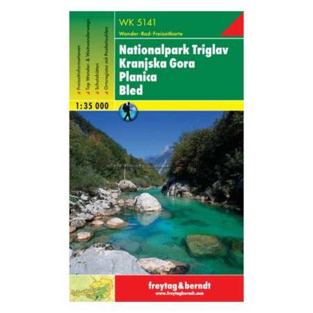 Nationalpark Triglav, Kranjska Gora, Planica, Bled turistatérkép