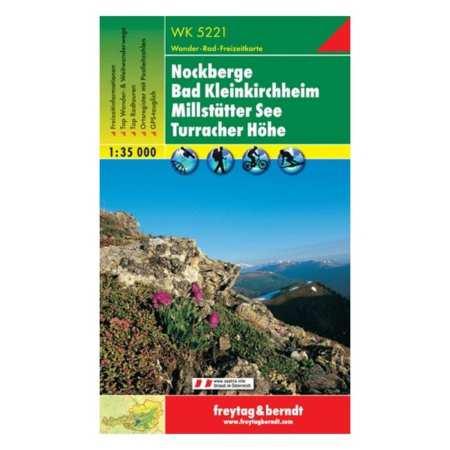 Nockberge, Bad Kleinkirchheim, Millstätter See, Turracher Höhe turistatérkép