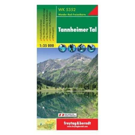 Tannheimer Tal turistatérkép