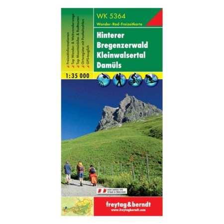 Hinterer Bregenzerwald, Kleines Walsertal, Damüls turistatérkép