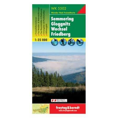 Semmering, Gloggnitz, Wechsel, Friedberg turistatérkép