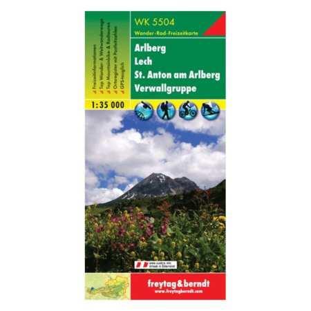 Arlberg, Lech, St. Anton, Verwallgruppe turistatérkép