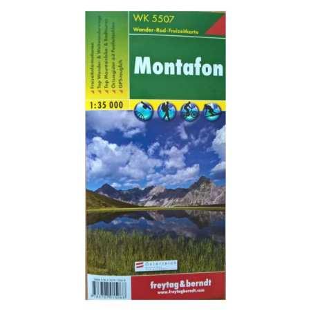 Montafon turistatérkép