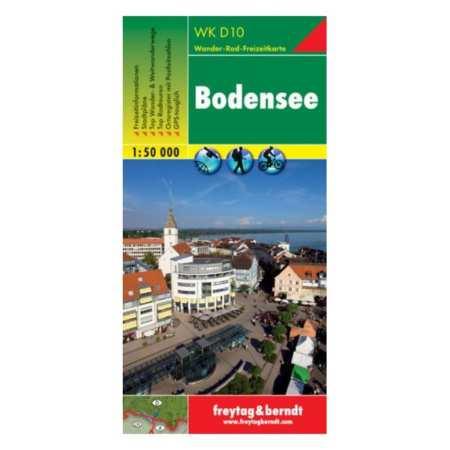 Bodensee, Boden-tó turistatérkép