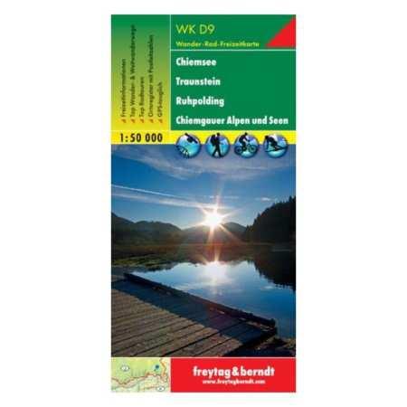 Chiemsee, Traunstein, Ruhpolding, Chiemgauer Alpen und Seen turistatérkép