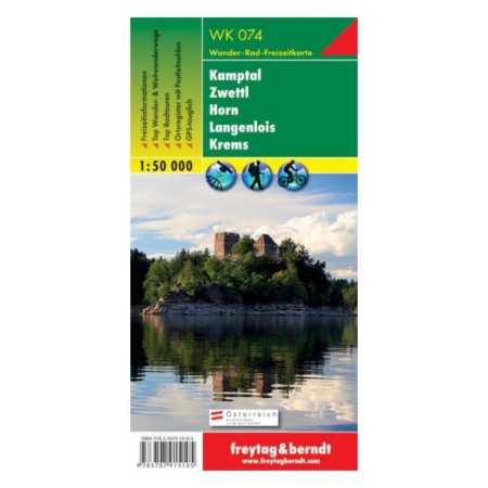 Kamptal, Zwettl, Horn, Langenlois, Krems turistatérkép