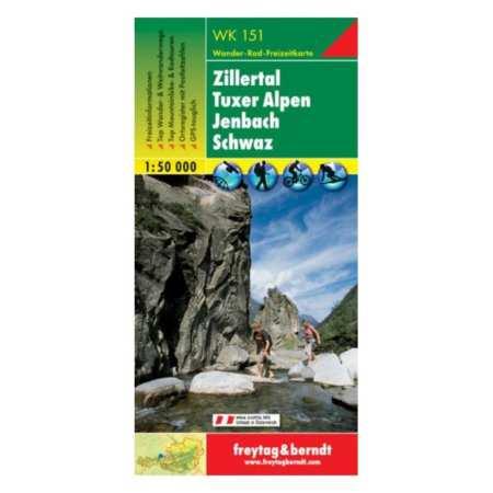 Zillertal, Tuxer Alpen, Jenbach, Schwaz turistatérkép