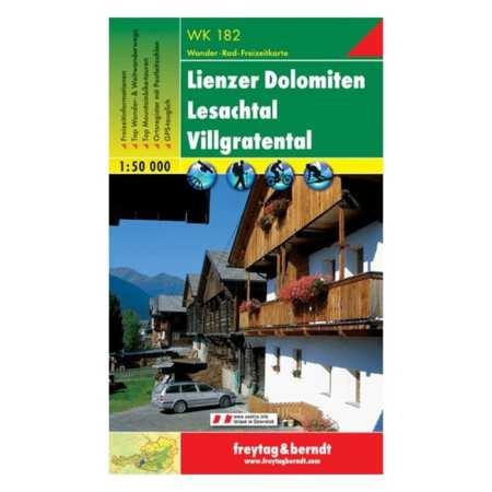Lienzer Dolomiten, Lesachtal turistatérkép