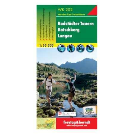 Radstädter Tauern, Katschberg, Lungau turistatérkép