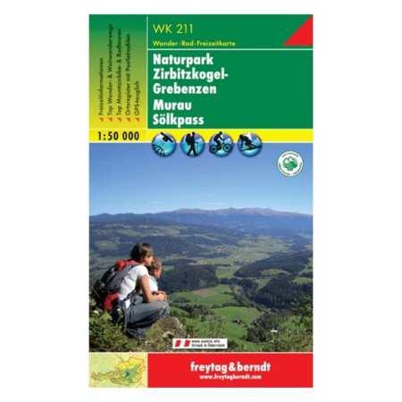Murau, Scheifling, Grebenzen, Sölkpass turistatérkép