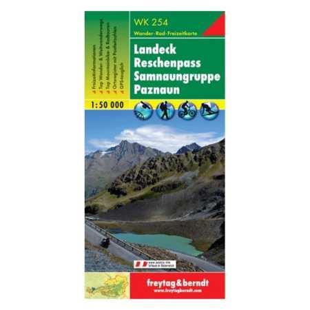 Landeck, Reschenspass, Samnaungruppe, Paznaun turistatérkép