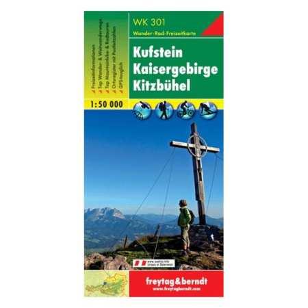 Kufstein, Kaisergebirge, Kitzbühel turistatérkép
